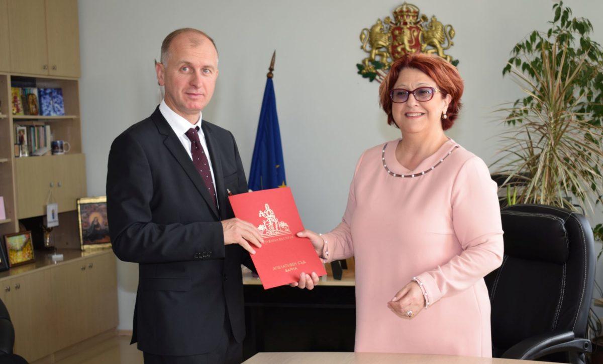 Марин Маринов встъпи във втория си мандат като шеф на Окръжния съд във Варна