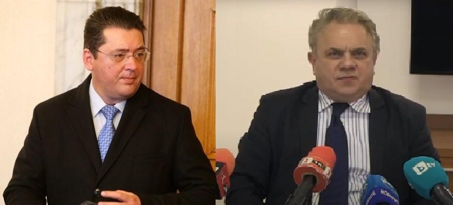 Секретарят на президента Пламен Узунов и прокурорът от Русе Николай Николов